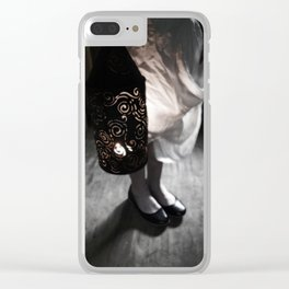 Girl with Punched Tin Lantern Clear iPhone Case