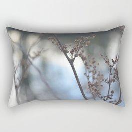 Winter Cow Parsley, Fine Art Photographic Print. Home Decor Rectangular Pillow