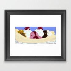 Bigger Banana Split Framed Art Print