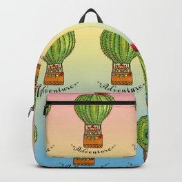 Ms Neko in cactus hot baloon Backpack