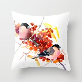 Bullfinch and the Fall Throw Pillow