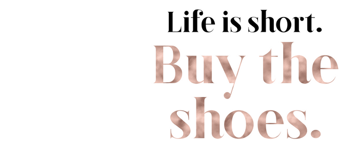 Rose gold beauty - life is short, buy the shoes Coffee Mug