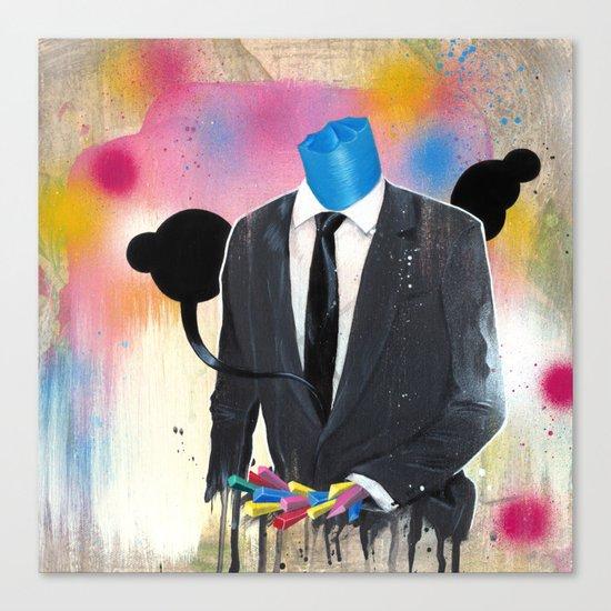 Plasticine man in a suit. Canvas Print