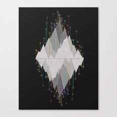 Flocking Mountain Lights Canvas Print