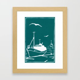 Comrades in Turquoise Framed Art Print