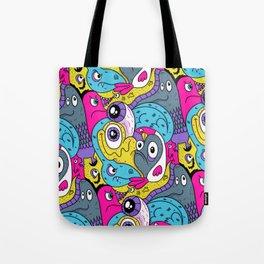 Idiot Bird Pattern Tote Bag