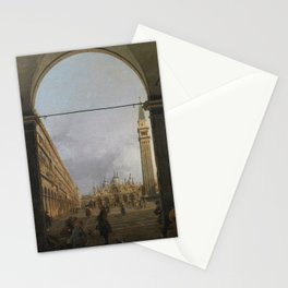 Piazza San Marco by Canaletto Stationery Cards