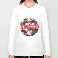 supreme Long Sleeve T-shirts featuring Supreme Circle  by Massero Project