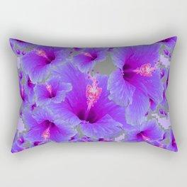 LILAC PURPLE-GREY HIBISCUS  MODERN  ART Rectangular Pillow