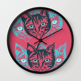 Mollycat Close-up Wall Clock