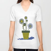 leah flores V-neck T-shirts featuring Flores by Constant