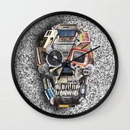 retro tech skull 5 Wall Clock