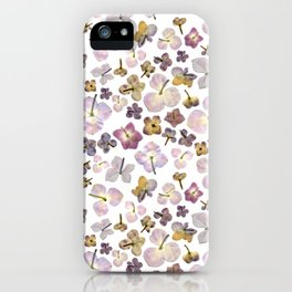 Scattered Hydrangea iPhone Case