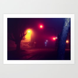 Traffic Lights / Bladerunner Vibes Art Print