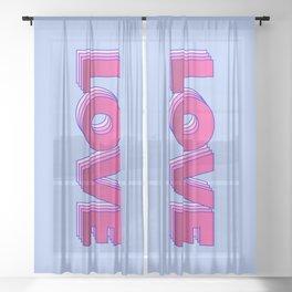 LOVE is a magic word Sheer Curtain