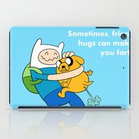 finn and jake iPad Cases featuring Finn and Jake Fart  by Richtoon