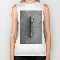 skateboard Biker Tanks featuring Skateboard by short stories gallery