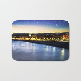 Starry Night over the Riviera Bath Mat