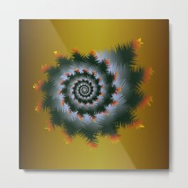 Christmas Swirl D1 Metal Print