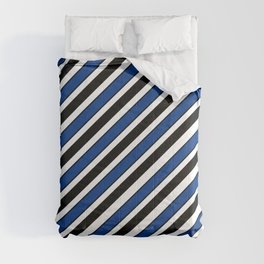 TEAM COLORS 1…Black, navy and white team  colors Comforters
