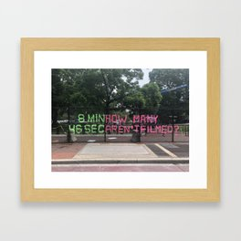 8:46 Framed Art Print