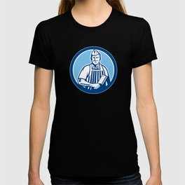 Butcher Meat Cleaver Knife Circle T-shirt