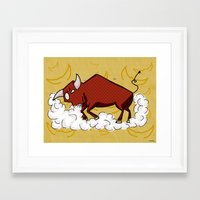 taurus Framed Art Prints featuring Taurus by Giuseppe Lentini