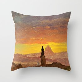 Frederic Edwin Church - St. Peter's, Rome, Shown - Digital Remastered Edition Throw Pillow