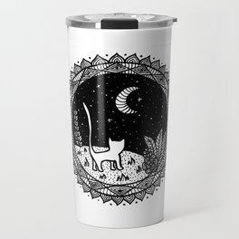 Because the Moon belongs to Cats Travel Mug