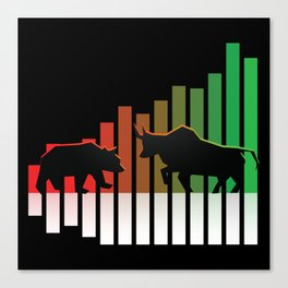Bear VS Bull Stock Exchange Money Profit Shareholder Share Gift Canvas Print