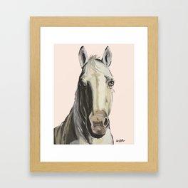 Horse Art, Farm Animal Art Framed Art Print