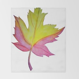 Red and yellow leaf Throw Blanket