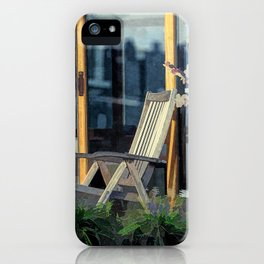 On this houseboat you´re sitting in the first row iPhone Case
