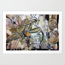 Peace, mantis Art Print