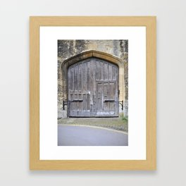 Oxford door 13 Framed Art Print
