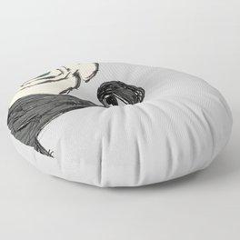 el mustachio Floor Pillow