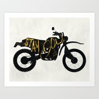 stay gold Art Prints featuring Stay Gold by Ride The Storm