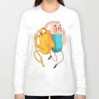 jake Long Sleeve T-shirts featuring Finn & Jake by Daniel Mackey