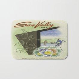 Vintage poster - Sun Valley, Idaho Bath Mat