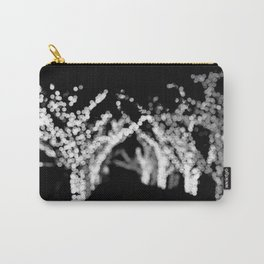Twinkle Lights - Holiday Lights in Black and White Carry-All Pouch