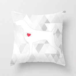 WEIM HEART Throw Pillow