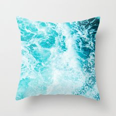 Perfect Sea Waves Throw Pillow