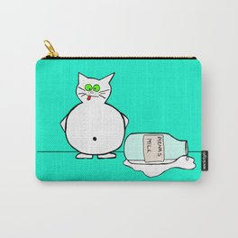 Cat and milk...  Carry-All Pouch