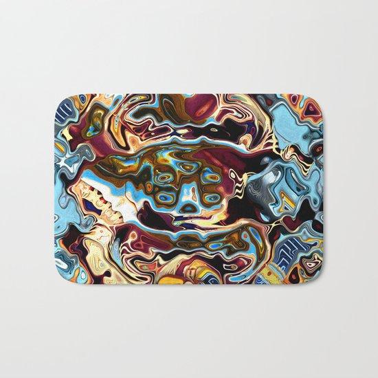 Chaotic Abstract Conglomeration Bath Mat