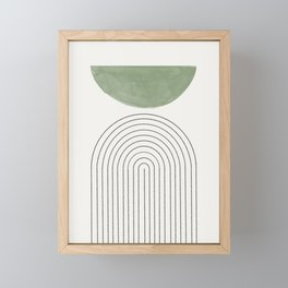 Green Moon Arch Framed Mini Art Print