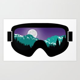 Moonrise Goggles | Goggle Designs | DopeyArt Art Print