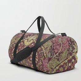 William Morris,Art Nouveau,Vintage pattern, floral victorian pattern, Duffle Bag