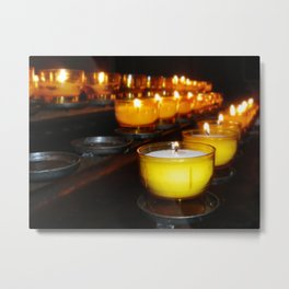 Church Candles Metal Print
