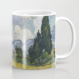 Wheatfield with Cypresses Coffee Mug