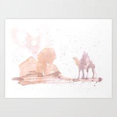 Watercolor landscape illustration_Egypt Art Print